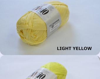 YELLOW 100% Mercerized Cotton yarn TANGO 50gr 125m Cotton Yarn knitting Crochet thread Choice of color Many Colors