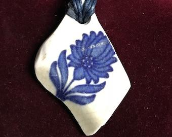 Beautiful Asterware vintage pottery shard choker/necklace