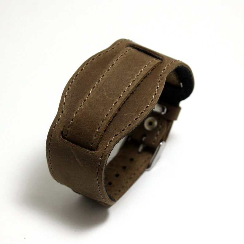 9231f8b6348 M16 XL style militaire bracelet en cuir véritable de couleur