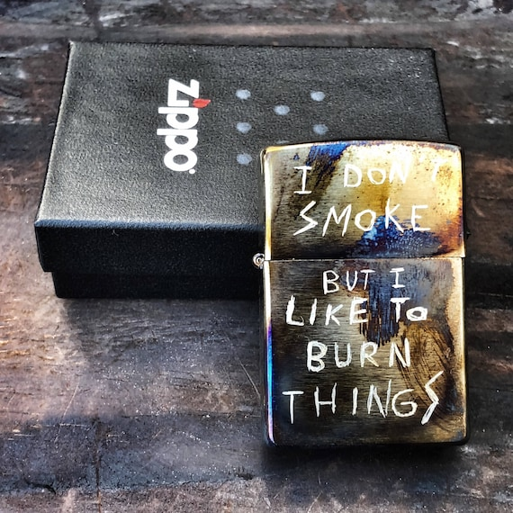 Custom Zippo Don't Smoke by Olmo -Custom Order