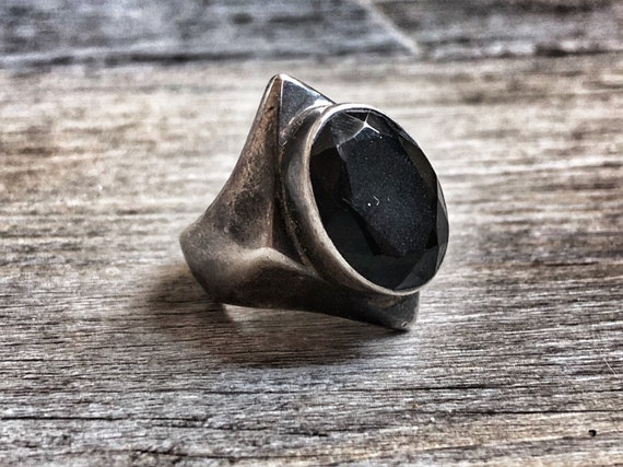 Silver & Onix Ring