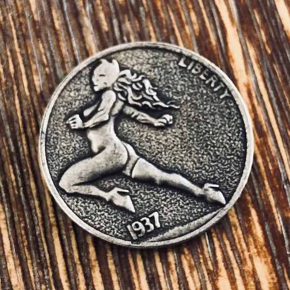 Hobo Nickel Cat Girl -  EDC