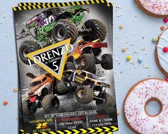 Monster Jam Invitation, Monster Jam Birthday Invitation card, Monster Jam Invitation, Monster Jam Party, Boy Birthday Party Invitation