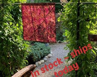 Modern Stained Glass Curtain ~ Boho Sun Window Shade ~ Korean Fabric Art