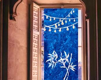 Shibori Noren ~ 4 Designs & Custom Sizes ~ Room Divider ~ Boho Curtain