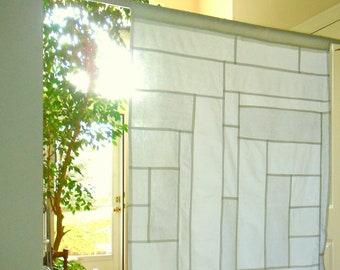 Pure Linen Cafe Curtains ~ Boho Curtains ~ Korean Fabric Art~ Doorway Curtain