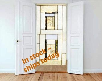 Sheer Curtains ~ Neutral Room Divider ~  Linen Doorway Curtain ~ Art Deco Window Treatment ~ Korean Fabric Art