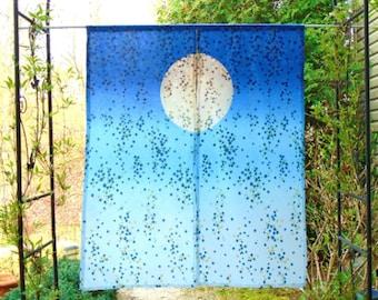 Japanese Shibori Noren ~  Custom Room Divider ~ Boho Curtain