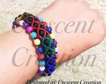 Jade Bracelet, 3 Strand Bracelet, Multi Color Jewelry, BoHo Bracelet, Gifts For Women, Beaded Bracelet, Chic Bracelet, Beaded Jewellery