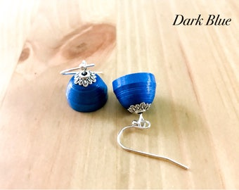 Gifts for her | Bridemaids Gifts | Small Paper Jhumka Dangle Paper Earrings | Gifts for her | Bridemaids Gifts | 2 tier Paper Jhumkas
