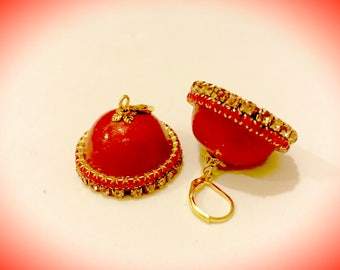 Paper Jhumkas Paper Dangle Earrings/ Jhumkas with ear hooks/studs| Gifts for her | Bridemaids Gifts |