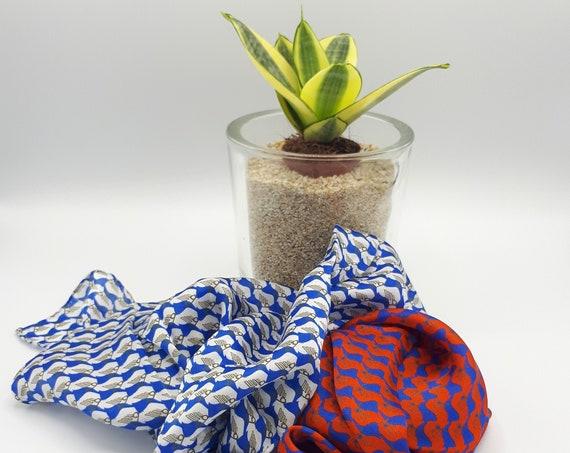 Fancy scarf column Greek art in pure hand-sewn silk