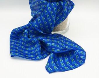 Foulard/ hand-sewn silk bandana