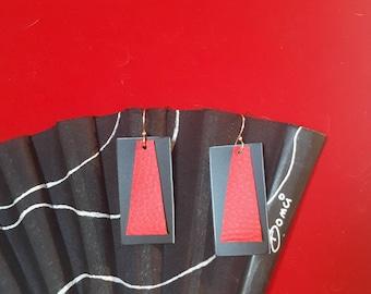 Geometric LeBoncine maxi pendant earrings