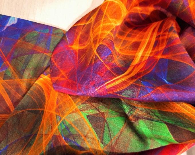 Precious patterned pure silk scarf