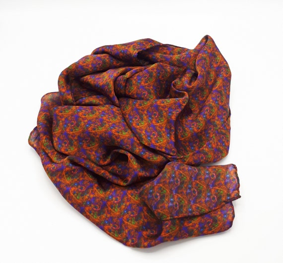 Scarf scarf in pure silk pattern exclusive pattern
