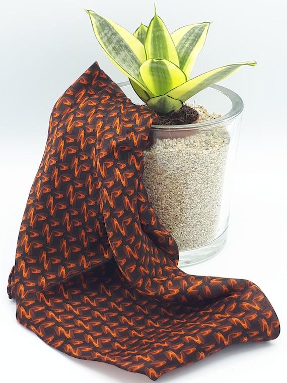 Unisex scarf in pure handmade silk pattern pattern