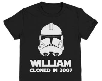 Personalized Clone Trooper Birthday Shirt Star Wars Stormtrooper Shirts Kids For