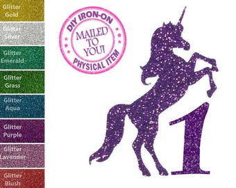 Music Unicorn Patches Irons on Stickers Heat Transfer Patches Applique Decor TEC