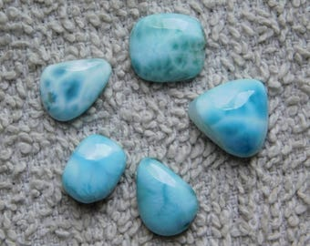 Awesome Larimar loose gemstone Cabochons Very Gorgeous Designer Excellent Quality 100/% Natural handmade Gemstone 44.40cts Lot 6 Pieces.