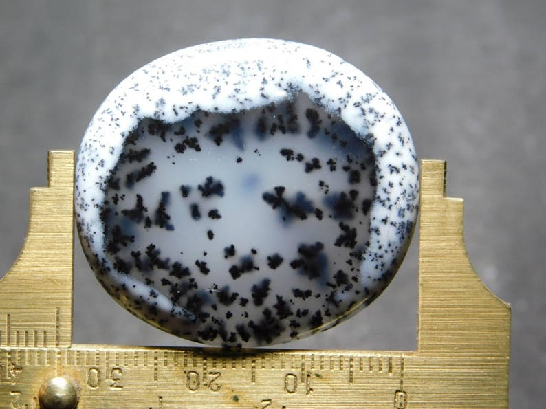 Awesome Dendritic Opal Loose Gemstone Excellent Cabochons Dendritic Agate One Side Flat Dendritic Agate Gemstone 50.35cts Rare 35x31x5 mm
