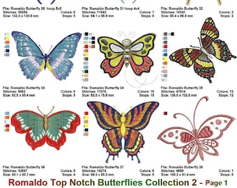 """Romaldo's 32 Butterflies: a Top Notch and VERY Special """" Butterflies Collection number 2 """""""