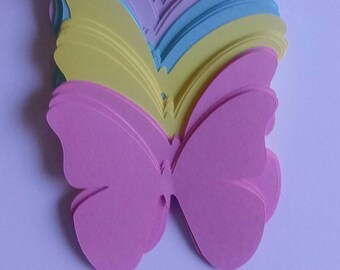 Butterfly Cut Outs, Die Cut Butterflies, Spring Color Die Cut Butterflies, Scrap-Book Butterfly Cut Outs