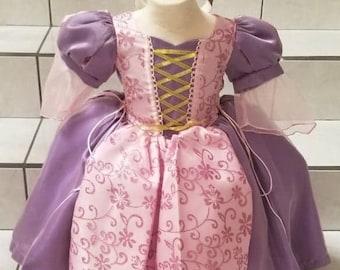 Beautiful Girl Rapunzel  Dress or Rapunzel  Costume, Baby Girl Dress, Rapunzel  Birthday, Special Occasion Dress