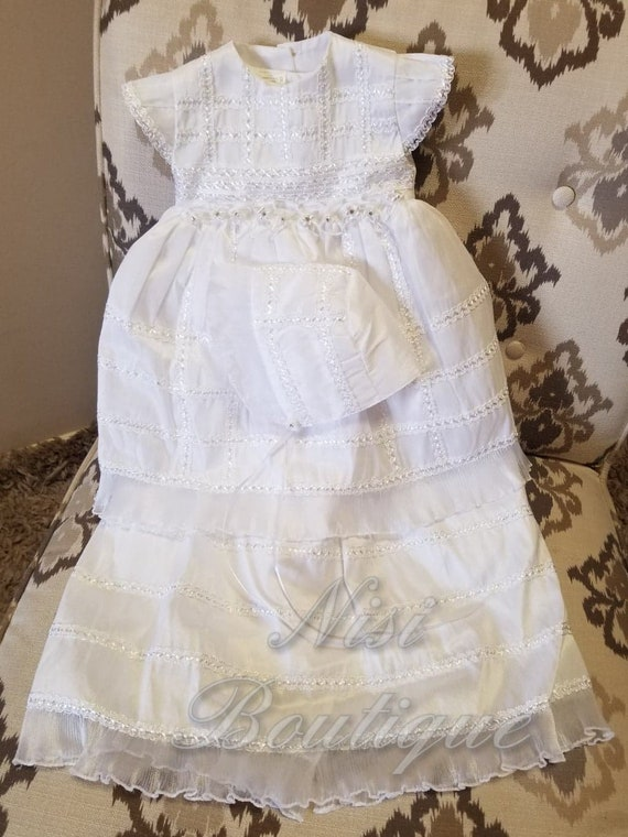 Beautiful Baptism Dress, Christening Gown, Baby Gi