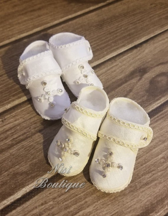 BABY BOYS SPECIAL OCCASION WHITE//IVORY CHRISTENING//BAPTISM//WEDDING SHOES