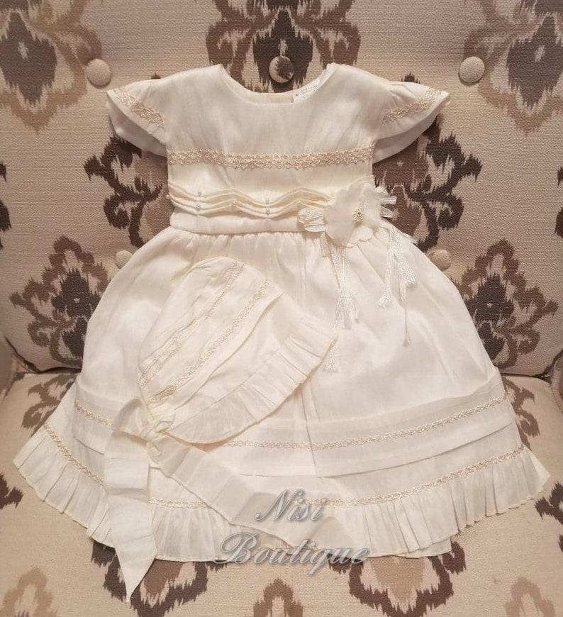 0d466639ecb Ivory Baptism Dress Christening Gown Baby Girl Ivory Dress   Etsy