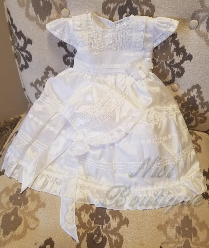 Special Ocassion Dress Baby Girl White Dress Christening Gown Baptism Dress