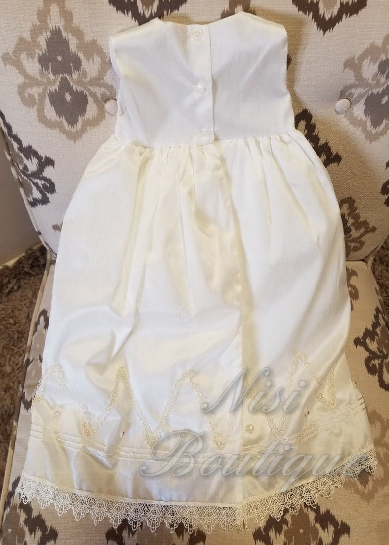 Christening Gown Baby Girl Ivory Dress Beautiful Baptism Dress Special Ocassion Dress