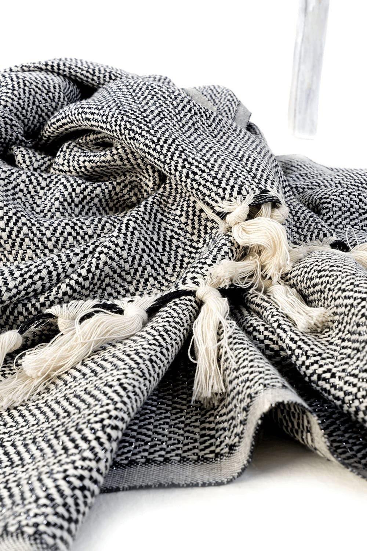 """Couverture de taille jumelle en coton turc handloomed, 71""""x94"""""""