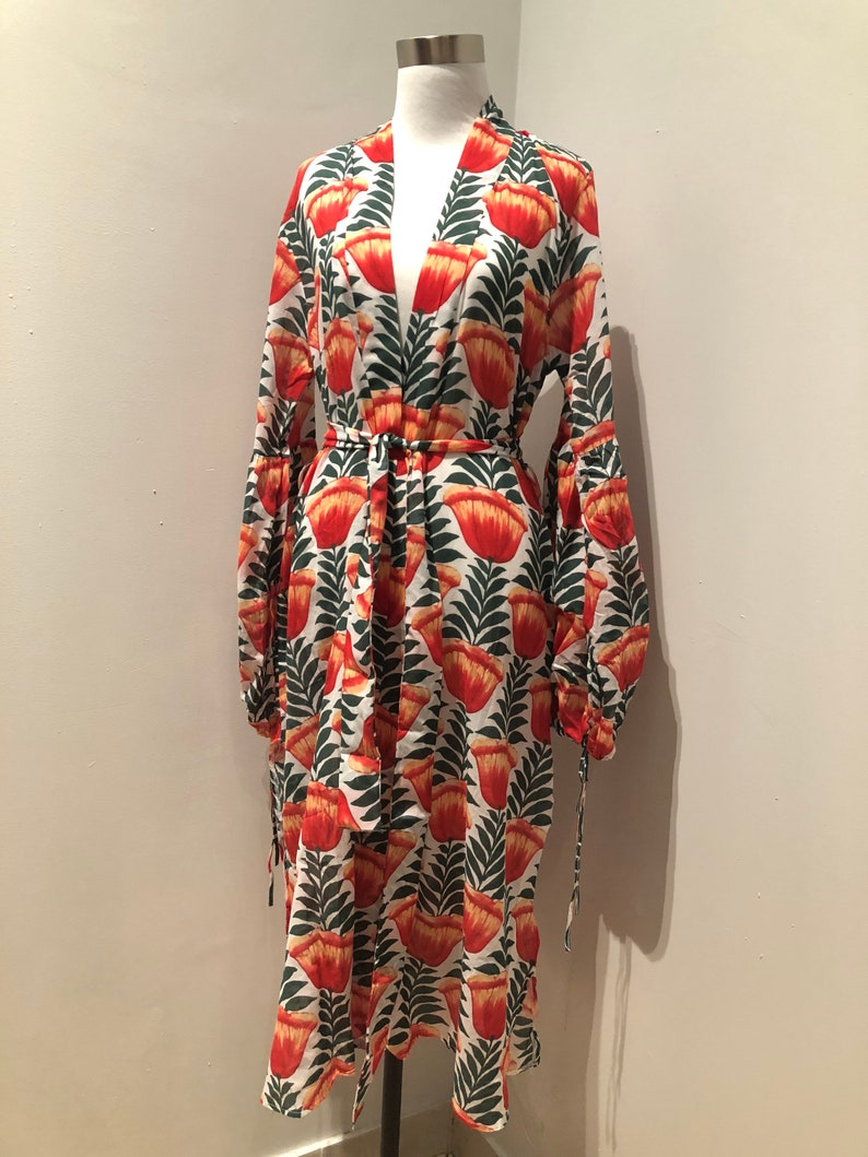 Floral boho cotton kimono robe/floral Turkish Cotton kimono ndxCdQmD