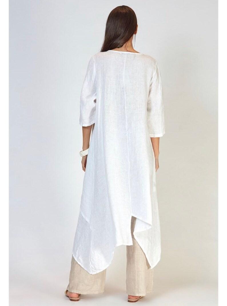 linen plus size dress loose fit italian linen dress  Christmas Gift Natural Oversized italian linen layer dress oversized linen dress