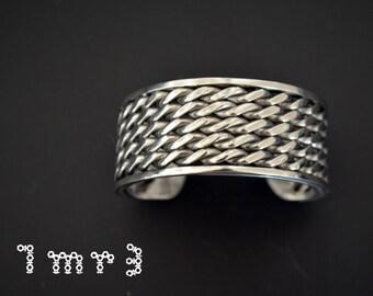 Welding wire cuff bracelet