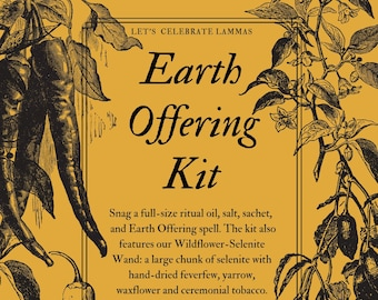 Earth Offering Kit for sabbat offering / ritual / spellwork, magick herbs, altar decor, witchcraft supplies, Wiccan / Pagan kit