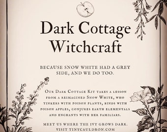 Dark Cottage Witchery Kit for hearth magic, ritual / spell casting, oils, magick herbs, altar or witchcraft supplies, Wiccan / Pagan decor