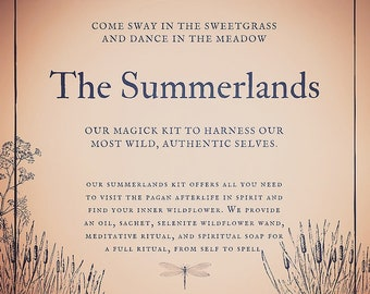 The Summerlands Box for meditation, spirit,  ritual / spell casting, oils, magick herbs, altar or witchcraft supplies, Wiccan / Pagan decor