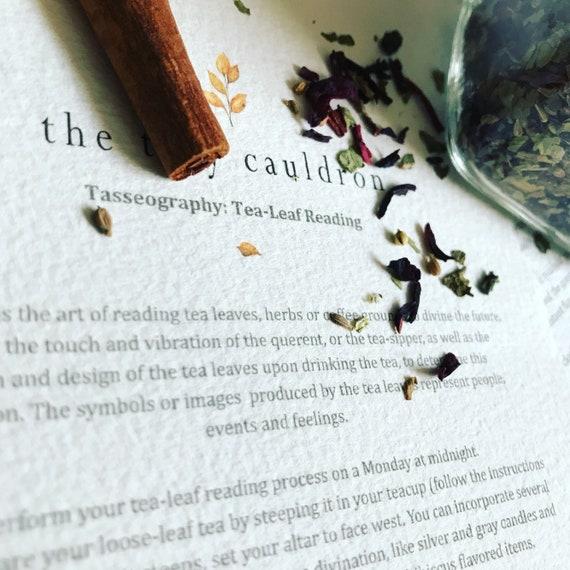 Tea Leaf Reading Chart Tasseonomy Chart Tasseography Chart Etsy
