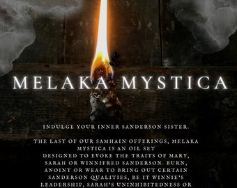 Melaka Mystica: Hocus Pocus Oil Set for sabbat / Halloween ritual / spellwork, magick herbs, witchcraft supplies, Sanderson Sisters