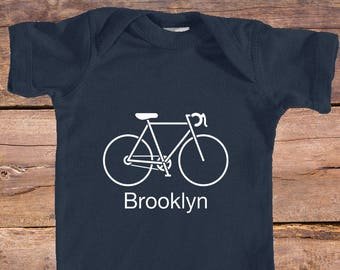 Brooklyn, New York Retro Bike Infant - Onesie/Bodysuit