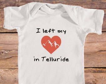 I left my heart in Telluride, Colorado - Infant Onesie/Bodysuit