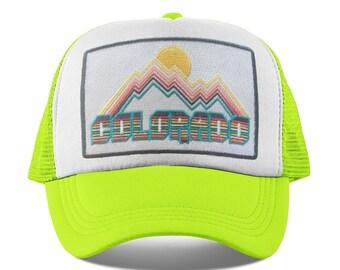 fa9ea3116c6 Colorado Baby Trucker Hat - Retro Design Colorado Snapback Infant Hat    Toddler Hat   Kid s Hat