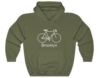 NY Hoodie Brooklyn Bicycle Club Hoodie Her Brooklyn Hoodie Men S M L XL 2x Gift for Men Bike Hoodie Cyclist Hoodie Cycling Hoodie