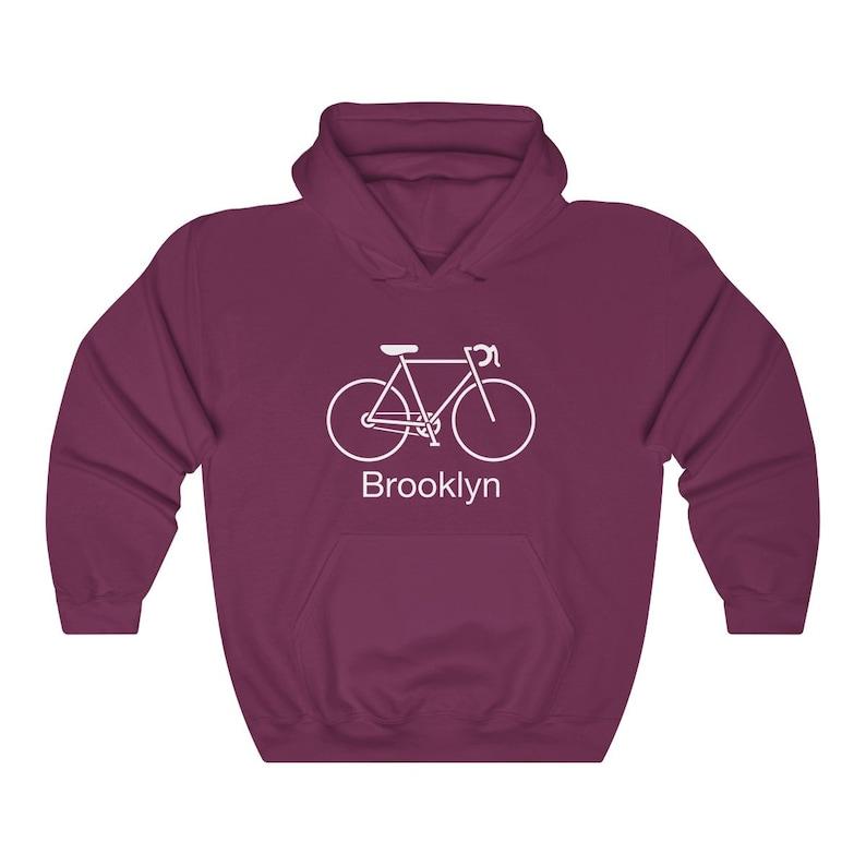 170a7e9e9 Brooklyn New York Hoodie Retro Bicycle Adult Unisex Brooklyn   Etsy