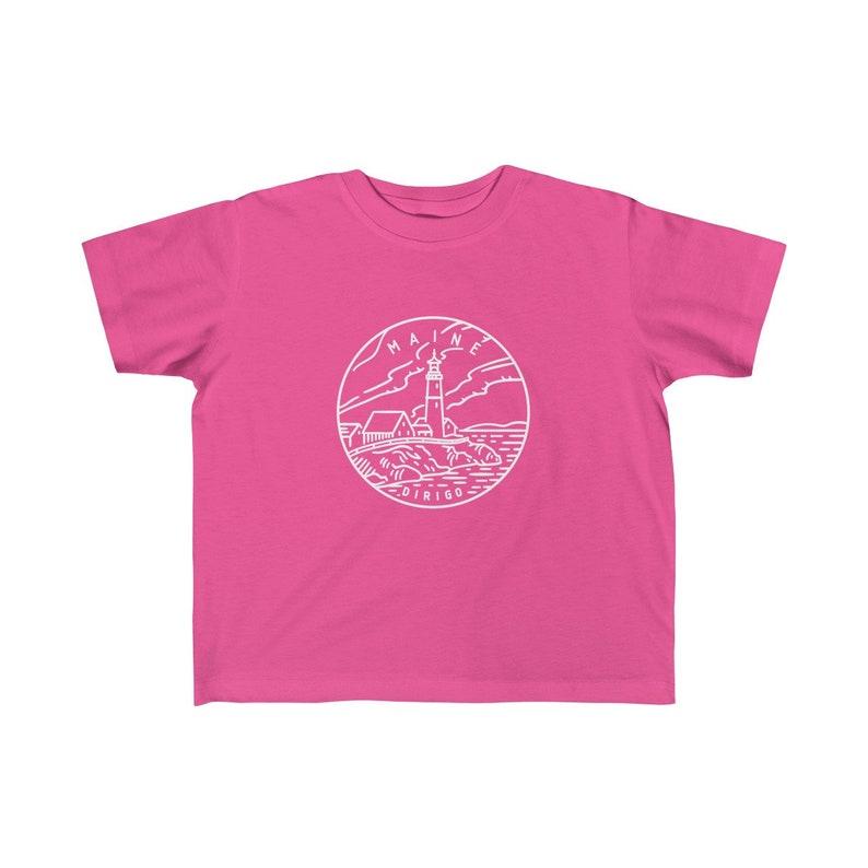 Maine Toddler Shirt Maine State Design Kid/'s T-Shirt