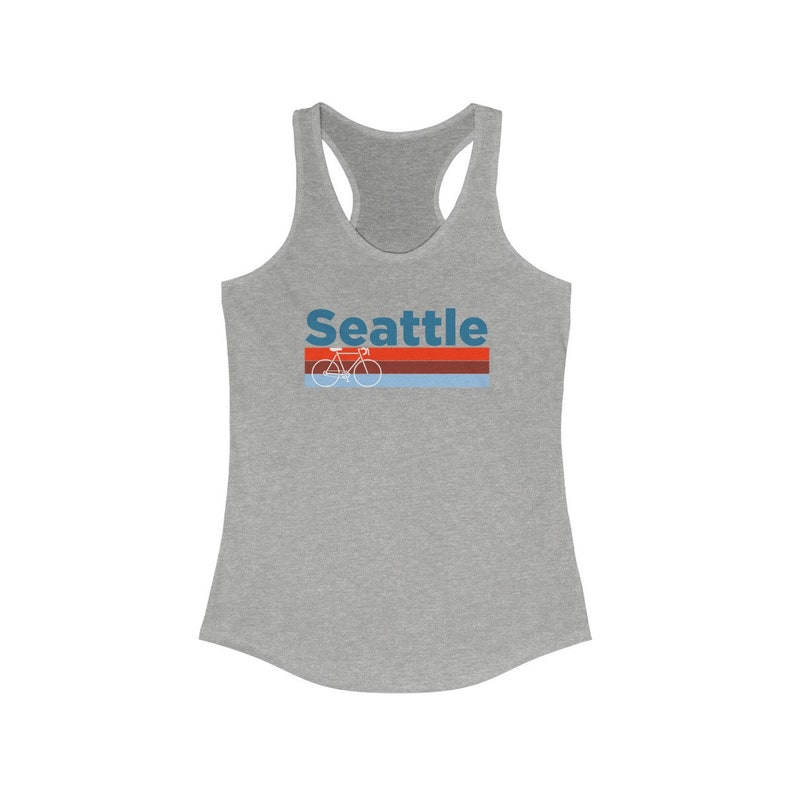 Washington Women/'s Tank Top Retro Bike Racerback Seattle Tank Top Seattle