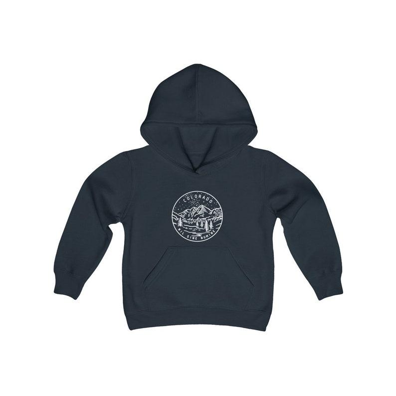 State Design Unisex Colorado Kid/'s Hoodie  Hooded Sweatshirt Colorado Youth Hoodie